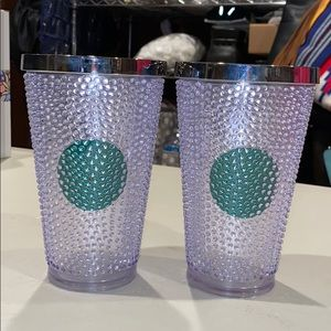 Gently used Starbucks textured tumbler set
